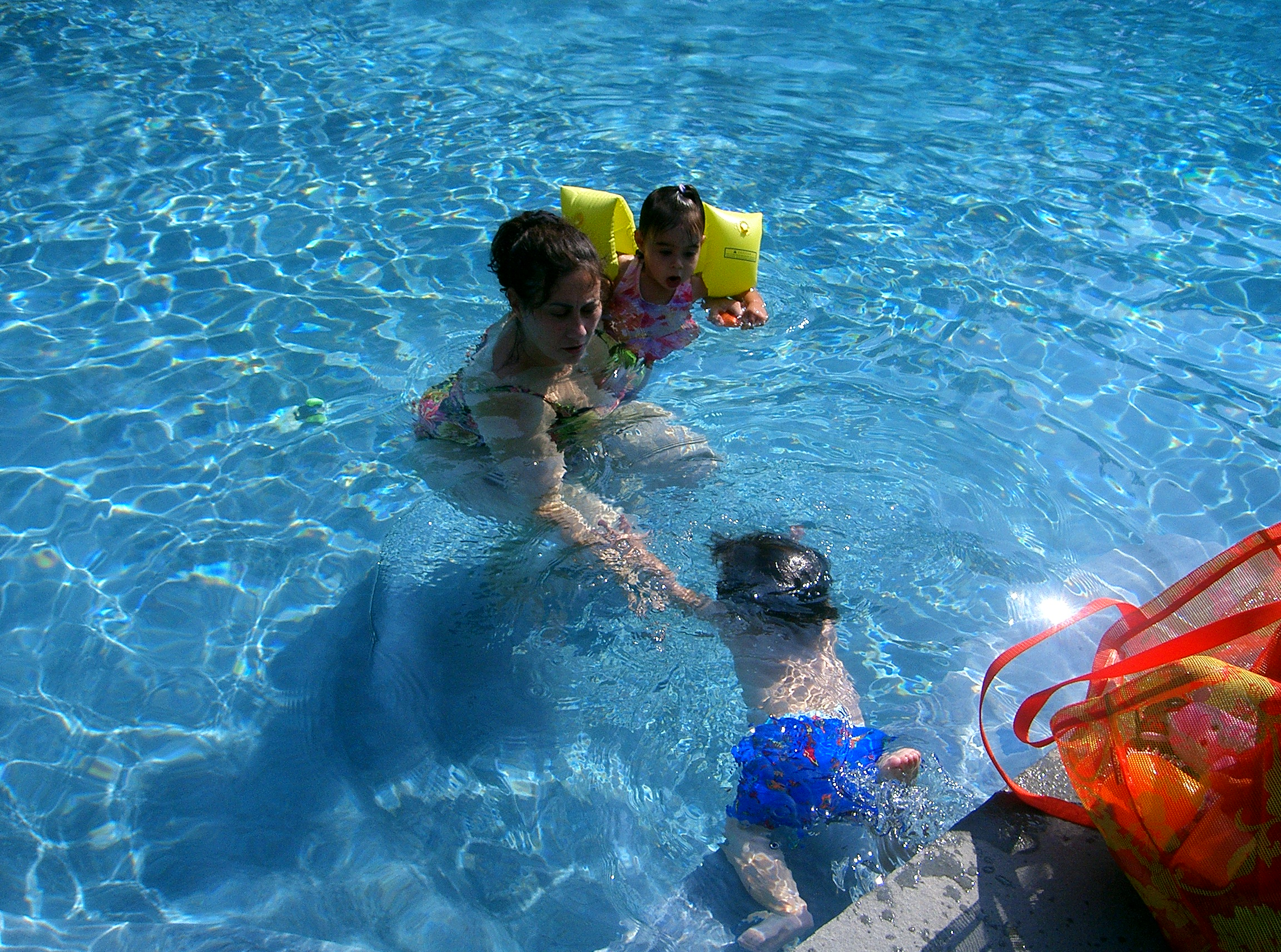 Parent and Twins Baby Swim Class